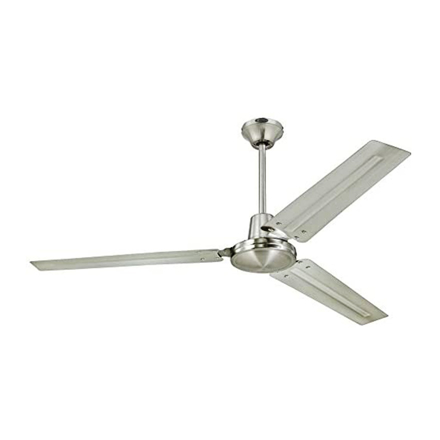 "Picture of Westinghouse Industrial Ceiling Fan 56"" Brushed Nickel, WHI56BN"