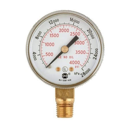 Harris Oxygen Gauge 4000 PSI, 6102의 그림