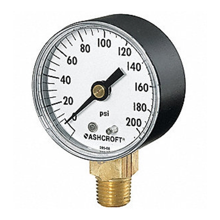 Harris Oxygen Gauge 200 PSI, 619의 그림