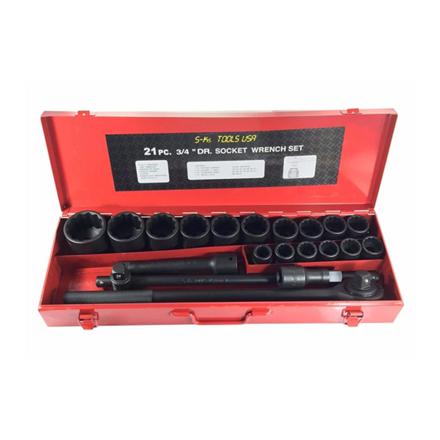 Picture of S-Ks Tools USA Impact Socket Set (Black), 34-2100B