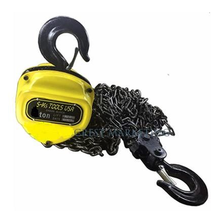 S-Ks Tools USA Heavy Duty 5 Tons Chain Block (Yellow/Black), 5T의 그림