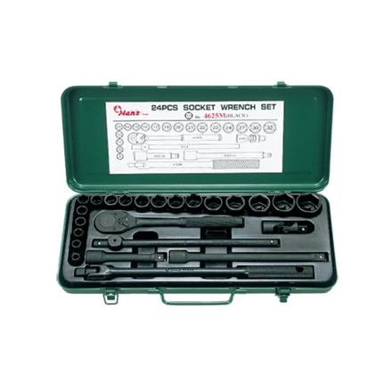 "Picture of Hans 1/2"" Drive 25Pcs. Impact Socket Wrench Set, #4625"