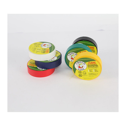 Picture of Croco Tape PVC Electrical Insulating Tape (Yellow, Blue, Red, Green), CROCO-ETAPE