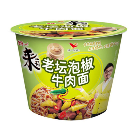 Picture of Tongyi Yi Chili Pickle Flavor Noodles, Instant Bowl Beef Noodle
