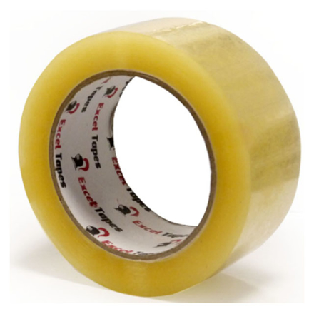 Picture of Excel Packaging Tape 45 microns (48mm x 50m, 48mm x 100m) Clear/Tan, EXCELP.TAPE