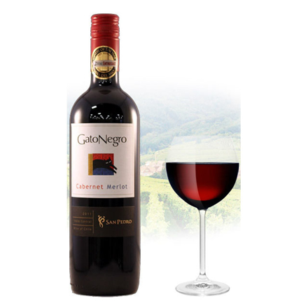 Picture of Gato Negro Cabernet & Merlot Chilean Red Wine 750 ml, GATONEGROCABERNET