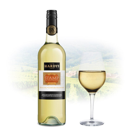 Picture of Hardy's Stamp Gewurztraminer Riesling Australian White Wine 750 ml, HARDYSRIESLING