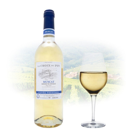 Picture of La Croix du Pin Muscat Semi-Sweet French Wine 750 ml, LACROIXMUSCAT