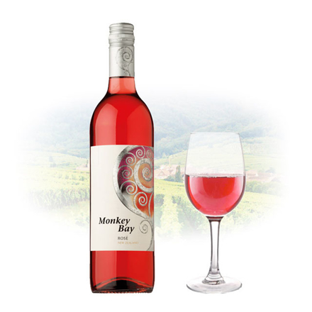 Picture of Monkey Bay Rose New Zealand Pink Wine 750 ml, MONKEYBAYROSE