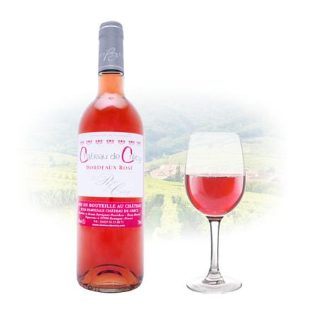 Picture of Chateau de Crécy La Rose Bordeaux Rose French Pink Wine 750 ml, CHATEAUDECRECYROSE