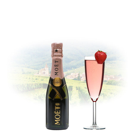 Picture of Moet & Chandon Rose Imperial Champagne 200 ml Miniature, MOETROSE