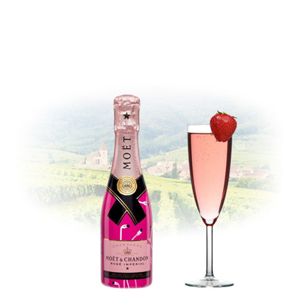 Picture of Moet & Chandon Rose Imperial Flamingos Limited Edition Champagne 200 ml Miniature, MOETFLAMINGOS