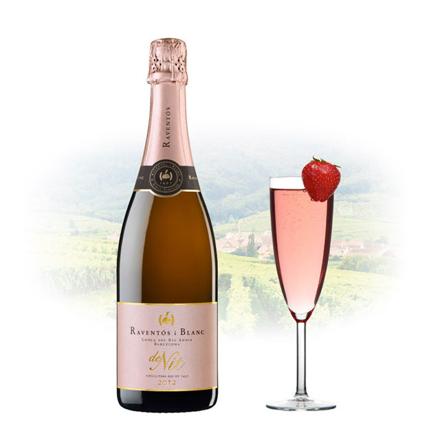 Picture of Raventos Blanc de Nit Brut Rose Spanish Sparkling Wine 750 ml, RAVENTOSROSE