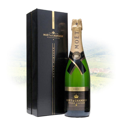 Picture of Moet & Chandon Grand Vintage Blanc 2003 Champagne 750 ml, MOETGRAND2003