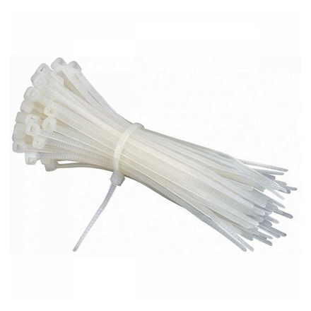 "Picture of AME'S Cable Tie 2.5mm x 100 (100pcs/Pack) 4"", 2.5mm x 150, 5"" (100 pcs/pack), 2.5mm x 200, 6"" (60 pcs/pack), 4.8mmx 350, 16"" (50 pcs/pack), S6674"