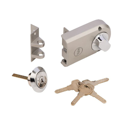 Picture of Yale Vertibolt Single Cylinder Dimple Key Antique Brass and Satin Nickel, YLHVB100TTDKBAB