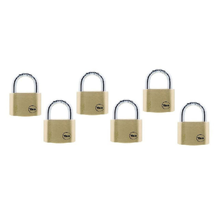 Picture of Yale Padlock Solid Brass 40mm 22mm Shackle 6 pc KA, YLHY110/40/123/6