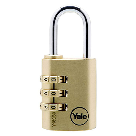Picture of Yale Padlock 3-Dial Solid Brass 31mm 26mm Shackle, YLHY150/30/125/1