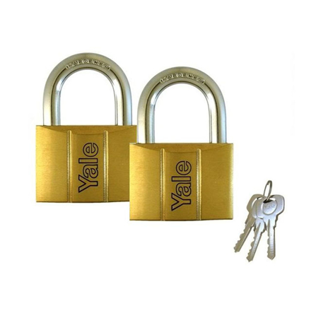 Picture of Yale Padlock Solid Brass 30mm 16mm Shackle 2 pc KA, YLHV14030KAX2