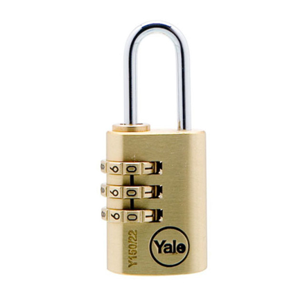 Picture of Yale Padlock Solid Brass 20mm Combination, YLHV68820