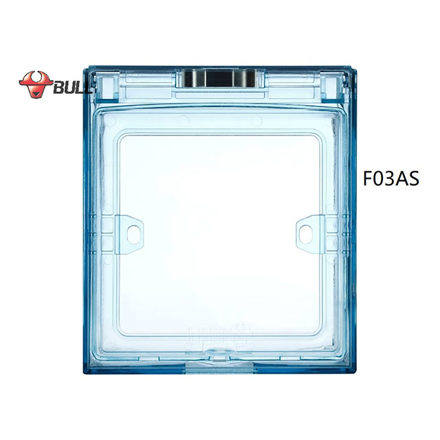 Picture of Bull Square Splashproof Cover (Light Blue), F03AS