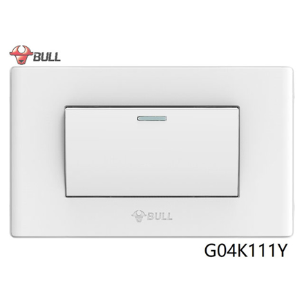 Picture of Bull 1 Gang 1 Way Switch Set (White), G04K111Y