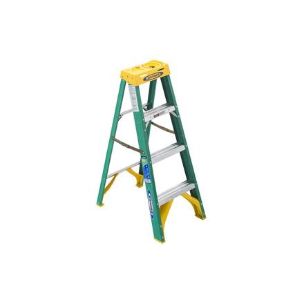 Picture of Jinmao 4 Step Fiberglass 5' Step Ladder 225 lbs Green, JMFM22104II