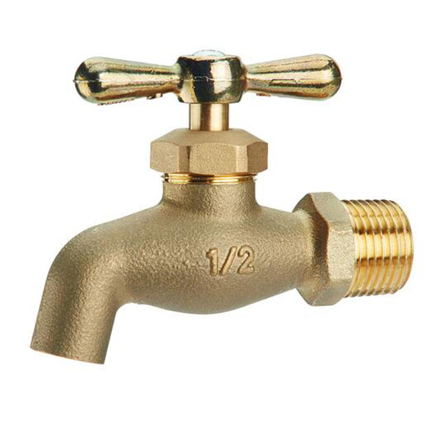 Picture of Omega Brass Faucet Screw Type with Plain Bib 1/2 in (Small and Large), BC-1100