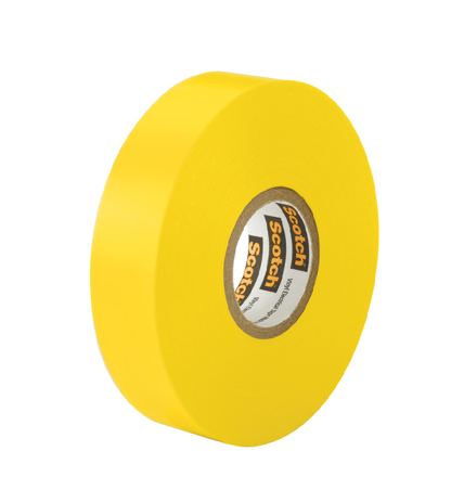 Picture of 3M TARTAN ELECTRICAL TAPE YELLOW 19MM X 6M