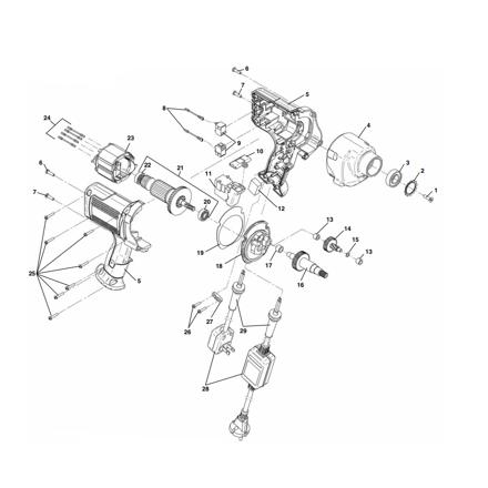 Picture of K-45AF Sink Machine Parts List