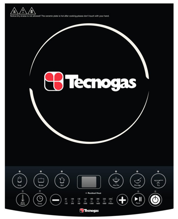Picture of Tecnogas TIC3081BL Induction Cooker   Order Basis