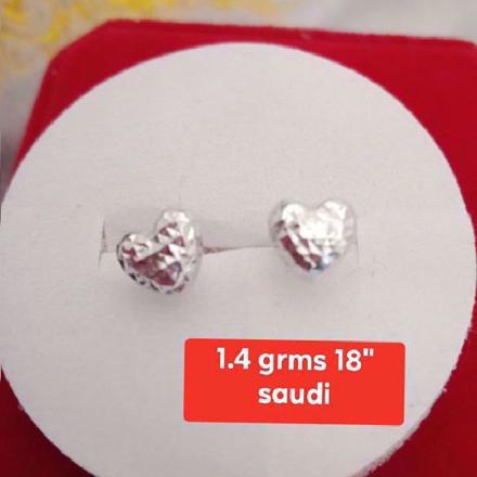Picture of Saudi White Gold Earrings 18K - 1.4g