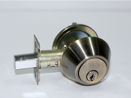 Picture of Yale Deadbolt Single Cylinder Antique Brass