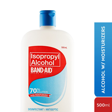 Picture of Band Aid Alcohol,Isopropyl Alcohol, 60% Cleaning Solution 500ml