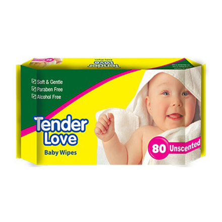 Picture of Tender Love Baby Wipes Unscented, TEN11