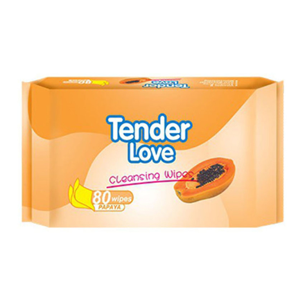 Picture of Tender Love Papaya Cleansing Wipes, TEN08