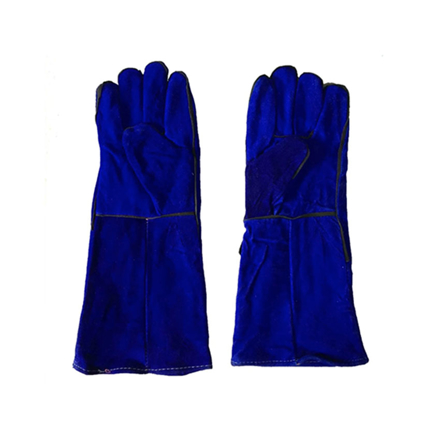 """Picture of S-Ks Tools USA 14"""" Genuine Cowhide Welding Gloves (Blue), 14"""""""