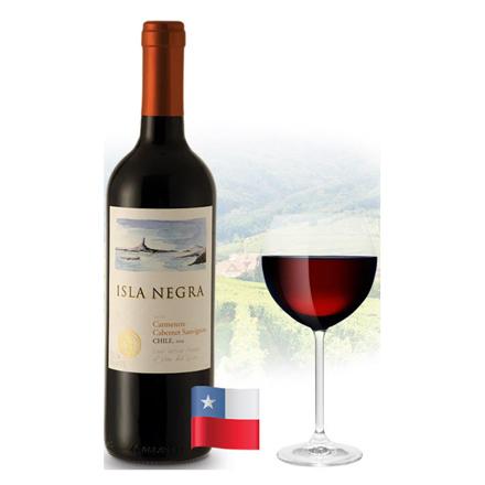 Picture of Isla Negra Cabernet Sauvignon & Carmenere Chilean Red Wine 750 ml, ISLANEGRACABERNET