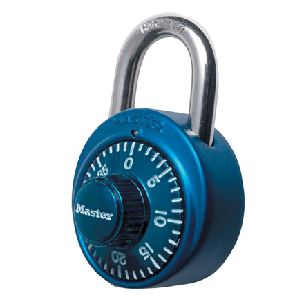 Picture of Master Lock Padlock Dial Combination 48mm 19mm Shackle (Blue, Red, Black, Purple), MSP1530DCMBLU