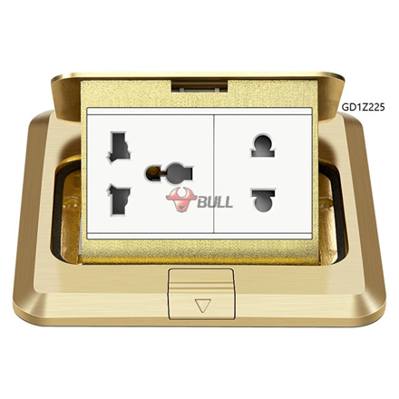 Picture of Bull Floor Outlet Universal Socket (White), GD1Z225