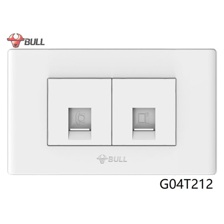 Picture of Bull Telephone and Computer Outlet Set (White), G04T212