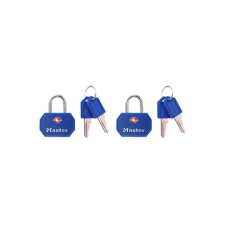 Picture of Master Lock Padlock Metal 35mm with Cover Blue and Red 2KA, MSP4681TBLR