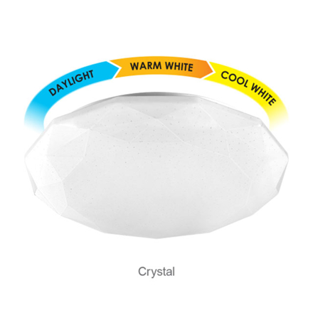 Picture of Firefly Functional LED 3-Color Ceiling Lamp Crystal (18 watts, 24 watts), ECL318TC