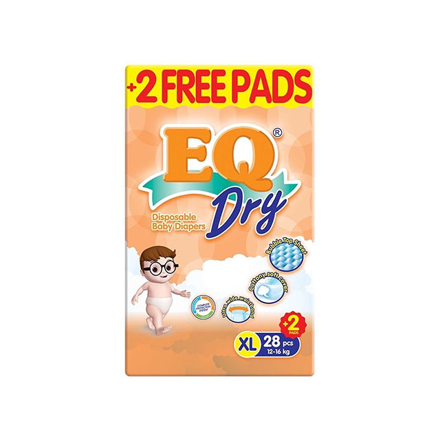 Picture of EQ Diaper Dry Xtra Large 28+2's, EQ032AY
