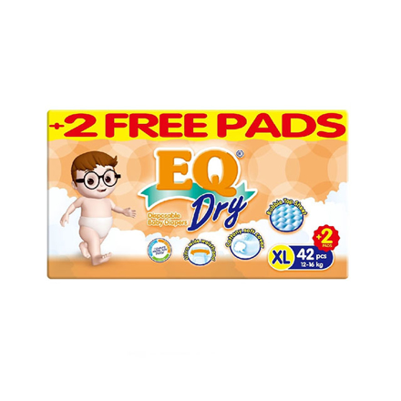 Picture of EQ Diaper Dry Xtra Large 42+2's, EQ016
