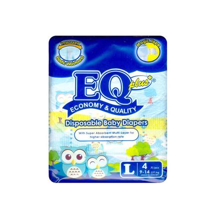 Picture of EQ Diaper Plus Large 4's, EQ004Y