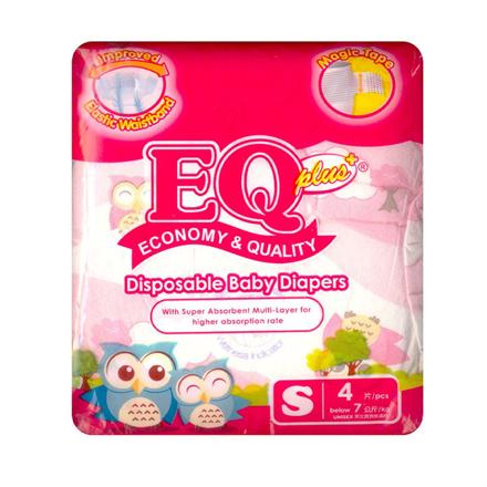 Picture of EQ Diaper Plus Small 4's, EQ001