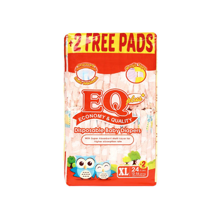Picture of EQ Diaper Plus Xtra Large 24+2's, EQ014AY