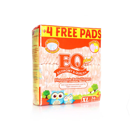 Picture of EQ Diaper Plus Xtra Large 36+4's, EQ043AY