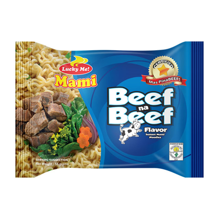 Picture of Lucky Me Instant Noodles 55g (Beef, Chicken, Itnok), LUC01